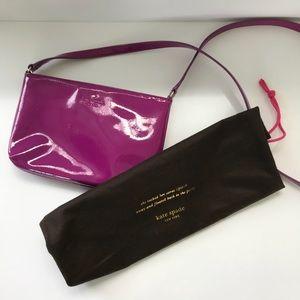Kate Spade purple patent leather crossbody bag